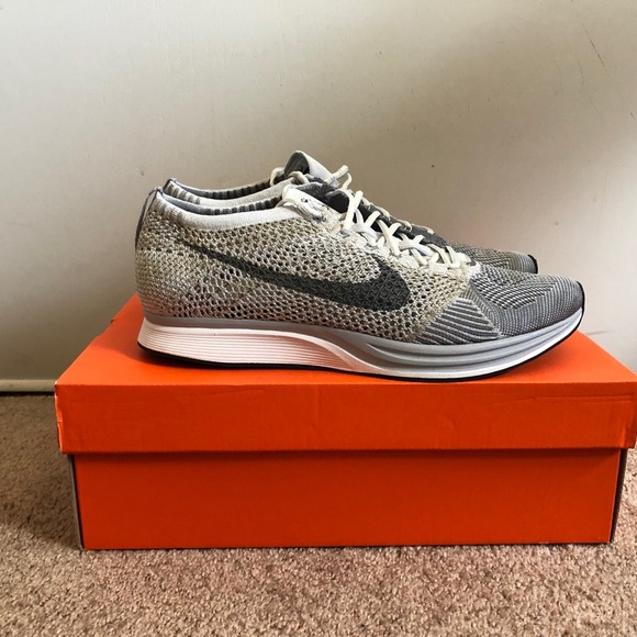 42d1c5a783f3 Nike Flyknit Racers Pure Platinum